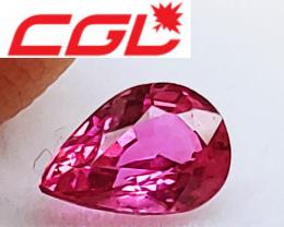 NR! CGL-GRS  Cert. Unheated Rich Purplish Pink Sapphire (Kenya)
