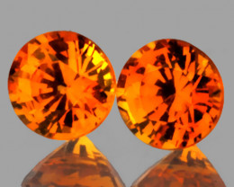 Extreme Mandarin Garnet Pair 4.70mm Jewellery grade gems