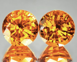 Bright Mandarin Garnet Pair 4.70mm Jewellery grade gems