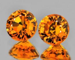 Bright Mandarin Garnet Pair 3.50mm Jewellery grade gems