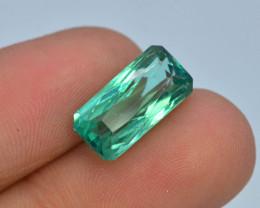 6.05 Ct Green Spodumene Gemstone From Afghanistan