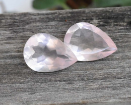 16.29cts Rose Quartz Pair (RQ26)