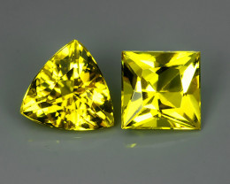 2.00 CTS.REMARKABLE! SQARE AND TRILLION FACET GOLDEN BERYL NATURAL NR!