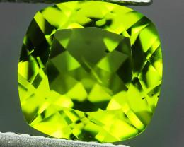 2.40 Cts High Best Natural Apple Green Cushion Pakistan Peridot~