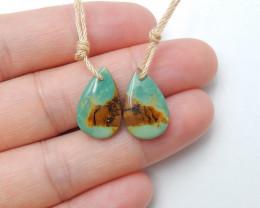 9cts turquoise earrings ,oval earrings ,healing stone ,designer B249