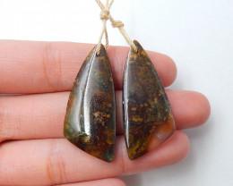 43.5cts Ocean Jasper earrings ,triangle earrings ,Designer Making B261