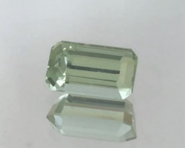 Glowing 3.65ct Pretty Mint Green Emerald Cut Tourmaline - Afghanistan