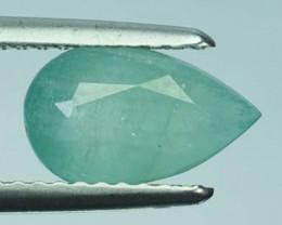 ~RAREST~ 1.33 Cts Natural Grandidierite Bluish Green Pear Madagascar