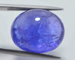 AAA Color 18.95 ct Tanzanite Cab eye catching Color~AS
