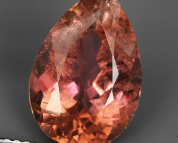 5.80 CTS BEAUTIFULL RARE NATURAL PINK TOURMALINE PEAR MOZAMBIQUE!!