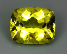3.80 CTS MARVELOUS LUSTER YELLOW NATURAL HELIODOR BERYL CUSHION!!