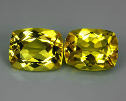 3.45 CTS MARVELOUS LUSTER YELLOW NATURAL HELIODOR BERYL CUSHION