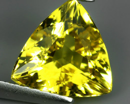 1.50 CTS AMAZING NATURAL RARE GOLDEN YELLOW BERYL TRILLION!!!