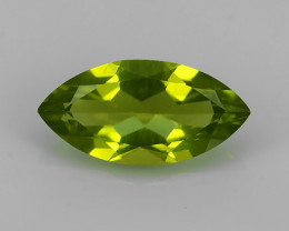 2.80 Cts.Magnificient Top Sparkling Intense Green Peridot!!