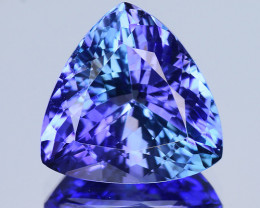 3.75 Cts Tanzanite Faceted Gemstone Awesome Color & Cut - TZ 1