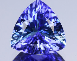 1.82 Cts Tanzanite Faceted Gemstone Awesome Color & Cut - TZ2