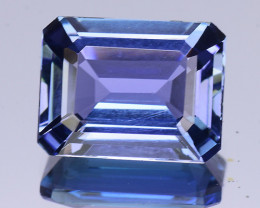 2.56 Cts Tanzanite Faceted Gemstone Awesome Color & Cut -TZ4