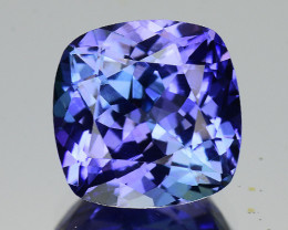 3.04 Cts Tanzanite Faceted Gemstone Awesome Color & Cut - TZ6