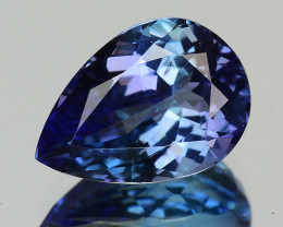 2.66 Cts Tanzanite Faceted Gemstone Awesome Color & Cut - TZ7