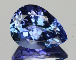 1.91 Cts Tanzanite Faceted Gemstone Awesome Color & Cut - TZ9