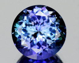 2.50 Cts Tanzanite Faceted Gemstone Awesome Color & Cut - TZ11