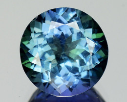 2.14 Cts Tanzanite Faceted Gemstone Awesome Color & Cut - TZ12