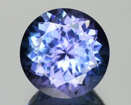 2.16 Cts Tanzanite Faceted Gemstone Awesome Color & Cut - TZ13