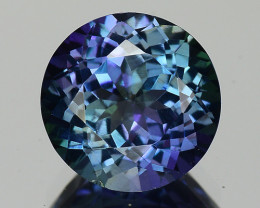 2.16 Cts Tanzanite Faceted Gemstone Awesome Color & Cut - TZ14