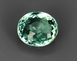 1.50 CTS~TOP FIRE ULTRA RAREST OVAL MIXED-CUT AQUAMARINE INDIA~