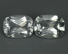 5.20 CTS~ TOP LUSTROUS NATURAL BRAZIL CUSHION~WHITE TOPAZ!!