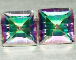 8mm FABULOUS CARNIVAL MYSTIC QUARTZ PAIR VVS GEM