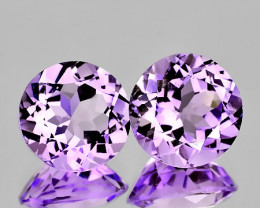 TOP VIOLET AMETHYST PAIR - VVS - 7.00mm