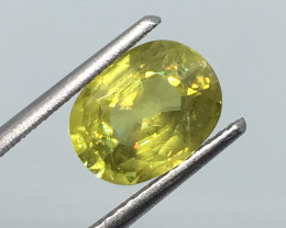 2.23 Carat Russian Sphene -Untreaded Exotic Flash and Color !