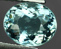 1.30 CTS STUNNING RARE NATURAL LUSTER OVAL SHAPE  AQUAMARINE NR!