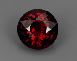 1.65 CTS TOP DAZZLING NATURAL ULTRA PINKISH RED COLOR 7MM RHODOLITE GARNET!