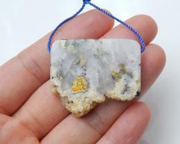 148cts Raw pyrite gemstone pendant ,Designer Making B148