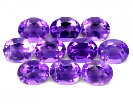 10 PIECE PARCEL OF VIOLET AMETHYST  5MM EACH no reserve