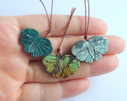 Hand made  turquoise pendants ,turquoise necklaces ,butterfly B152