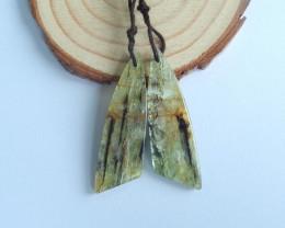 45.5ts green kyanite Jasper earrings ,earrings ,healing stone B146