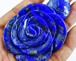 Genuine 370.00 Cts Lapis Lazuli Rose
