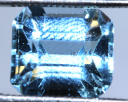 SWISS BLUE TOPAZ FACETED  IRRIDATED 5.5CTS  ADG-643