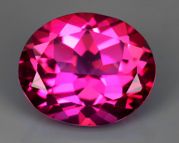 5.35 CTS SUPERIOR! TOP OVAL CUT HOT PINK-TOPAZ GENUINE NR!!