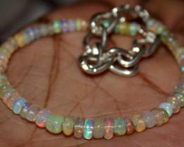 24 Crt Natural Ethiopian Welo Fire Opal Beads Bracelet 34