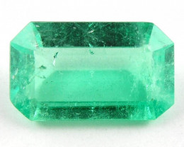 1.38 ct Natural Colombian Emerald Cut Green Gem Loose Gemstone Stone