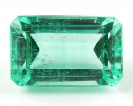 1.17 ct Natural Colombian Emerald Cut Green Gem Loose Gemstone Stone