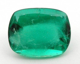 2.88 ct Natural Colombian Emerald Cabochon Sugarloaf Cut Loose Gemstone Gre