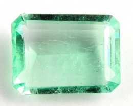 3.28 ct Natural Colombian Emerald Cut Green Gem Loose Gemstone Stone