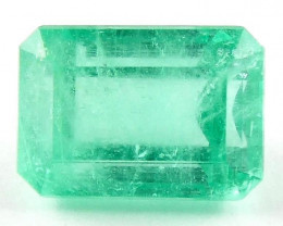 3.24 ct Natural Colombian Emerald Cut Green Gem Loose Gemstone Stone