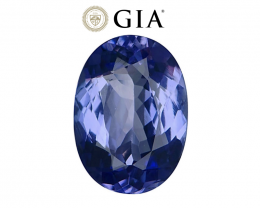 4.59 cts GIA Certified Tanzanite - Nearly Flawless - D Block Blue Color