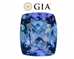 5.75 cts GIA Certified Tanzanite - Nearly Flawless - D Block Blue Color